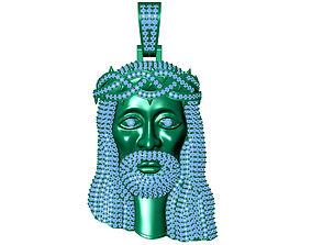 3D printable model Jesus head pendant jessu