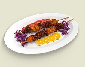3D model Shashlik Meat