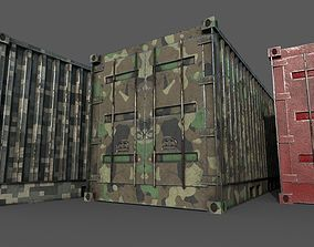 Old Used Container 3D asset