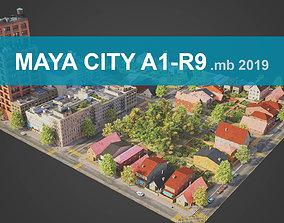 City District A1-R9 MAYA 3D model