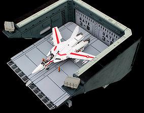 Set1 - Macross SDF-1 Prometheus Hanger 3D print model 2