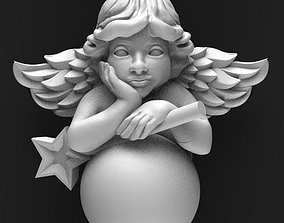 angel 3D print model jewelry