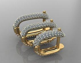 3D printable model GC GOLD E065- Diamond Cartilage Earring