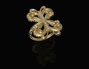 3D print model Brilliant fantasy ring