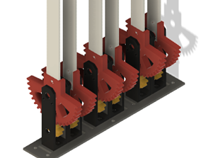Throttle Pitch Mixture lever mechanism for Flight Sim 3D