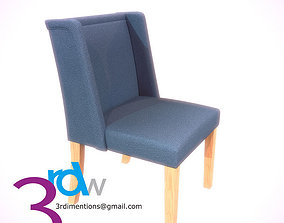 Blue Chair 3D model game-ready