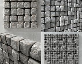 Stone cube panel 3D model