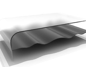 Glossy Wave Coffee Table 3D model