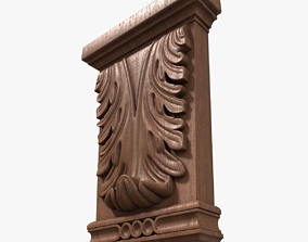Wood Corbel-3 3D model PBR