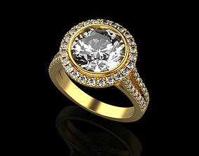 jewelery ring 3D print model engagement