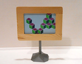 house Geom Picture Frame Stand 3D printable model