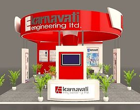 Exhibition stall 7x17 3D model