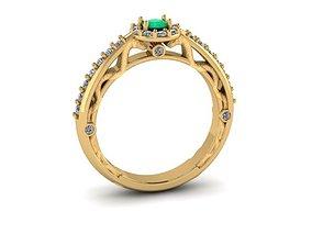 medicine graduation ring gold 3D print model