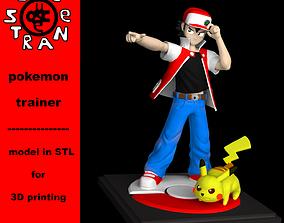 3D print model Pokemon Trainer Red Pikachu version