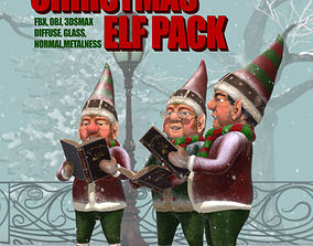 Christmas Elf Pack 3D model