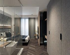 3D model 1Khanh Apartment Bedroom Design