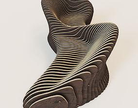 Parametric 2 seeted bench 3D