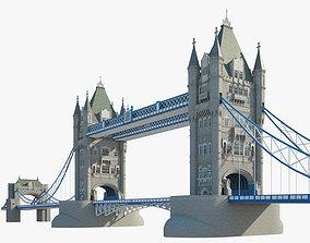 Tower Bridge 3D model building