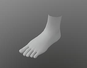 Low Poly feet model VR / AR ready anatomy