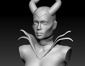 Maleficent Bust Sculpture 3D print model cartoon