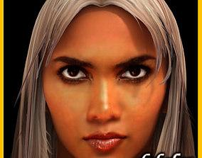 3D model Halle Berry hair