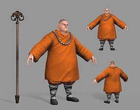 3D model realtime Buddhist Monk