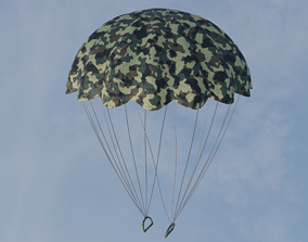 PBR Military parachute 3D model
