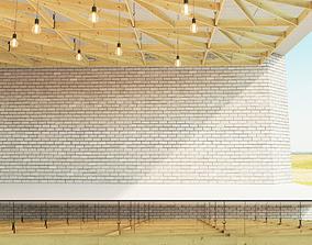 3D model Wooden suspended ceiling 4