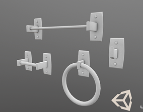 3D model VR / AR ready Bathroom Accessories