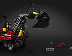 3D Toy Pneumatic Excavator