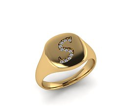 gem Jewelry Signature Ring 3D printable model