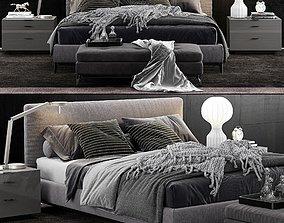 Minotti Andersen Bed 3D model dibbets