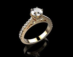 3D print model Solitaire Engagement Rings Brilliant