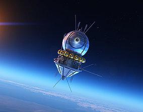 sci Soviet Union Sattelite 3D VOSTOK 1 PBR