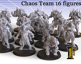 Chaos Team 16 figures 3D printable model
