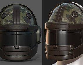 Helmet scifi military combat 3d model low poly low-poly 1
