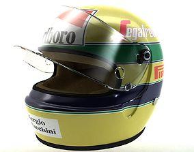 Ayrton Senna Helmet 1984 3D model
