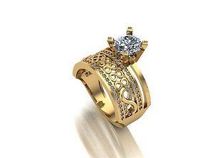 wedding ring gem jewellery 3D print model
