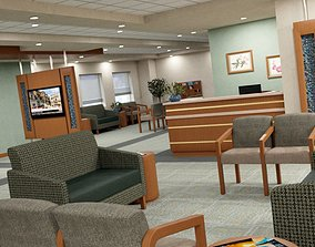 3D model Hospital waiting area