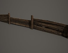 3D asset Wooden trench