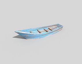 3D model low poly beach boat