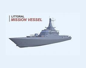 3D model Littoral Mission Vessel
