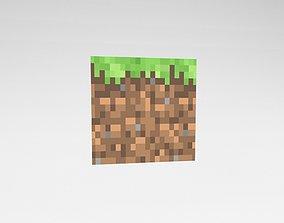 Minecraft Grass v1 001 3D asset
