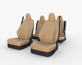 3D Tesla Model Y Seats Cream