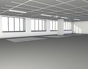 3D White Room with Windows