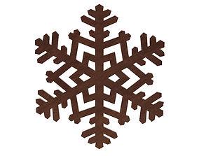 wood snowflake 3D model