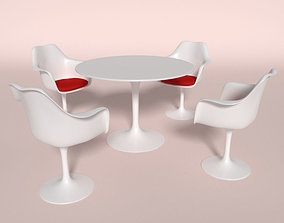 3D model Tulip Chair And Table