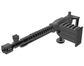 Machine gun for vehicle miniature 3d printable machine