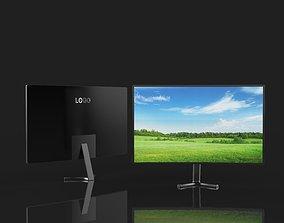 3D model Curved display 4K TV Smart TV flat