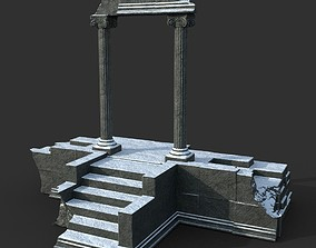 Low poly Ancient Roman Ruin Construction 06 - 3D asset 2